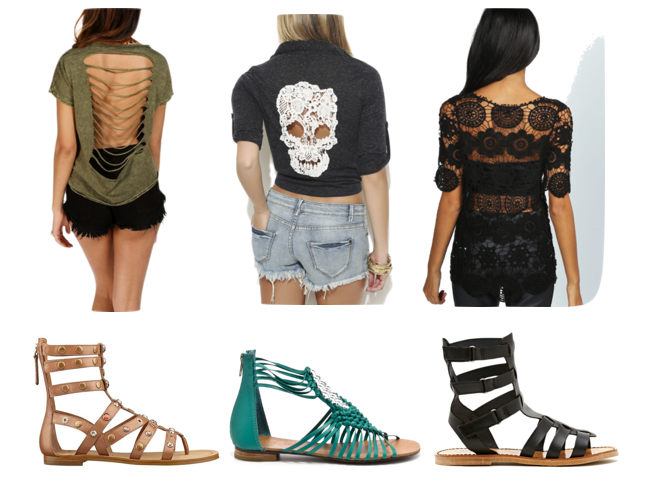 Polyvore shoe collage