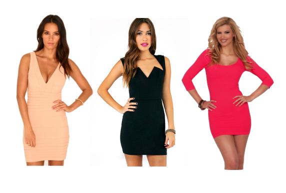 Bodycon dresses (collage created via Polyvore.com)