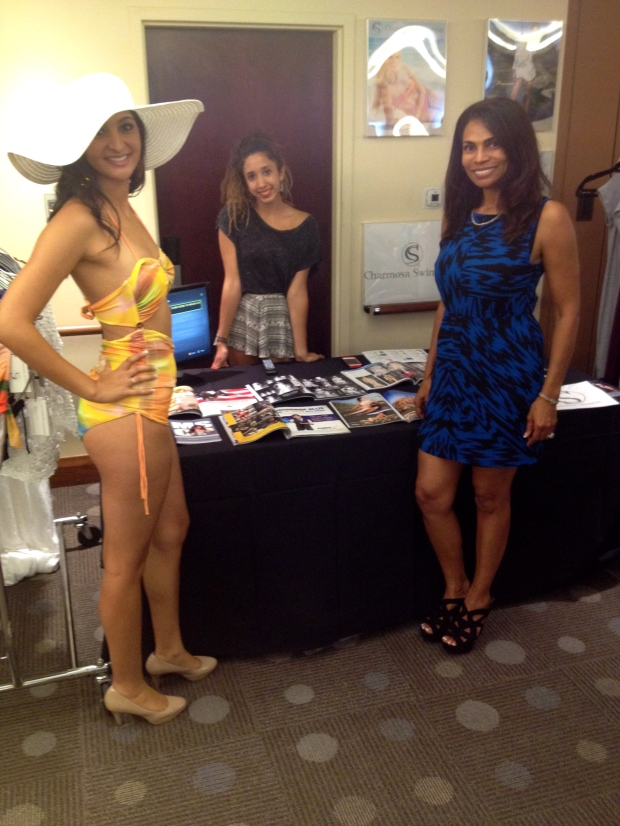 Charmosa Swimwear's booth.